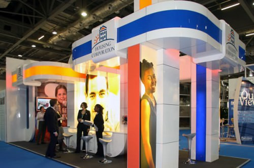 Bespoke exhibition stand for Housing Corporation
