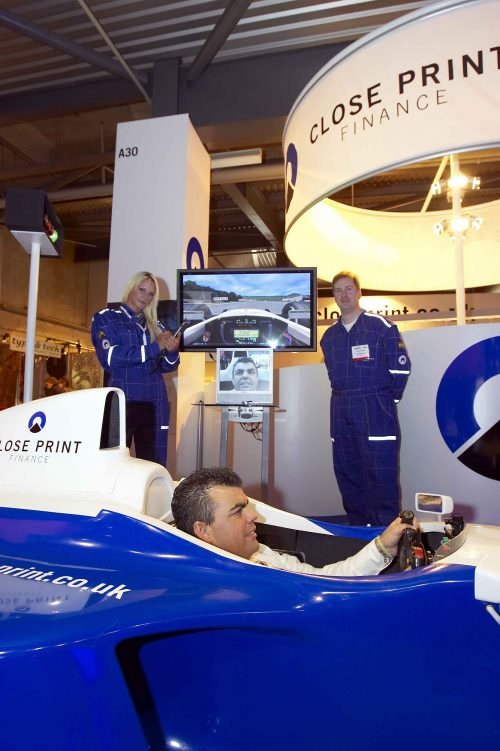 F1 Simulator for Closeprint Finance Exhibition Stand
