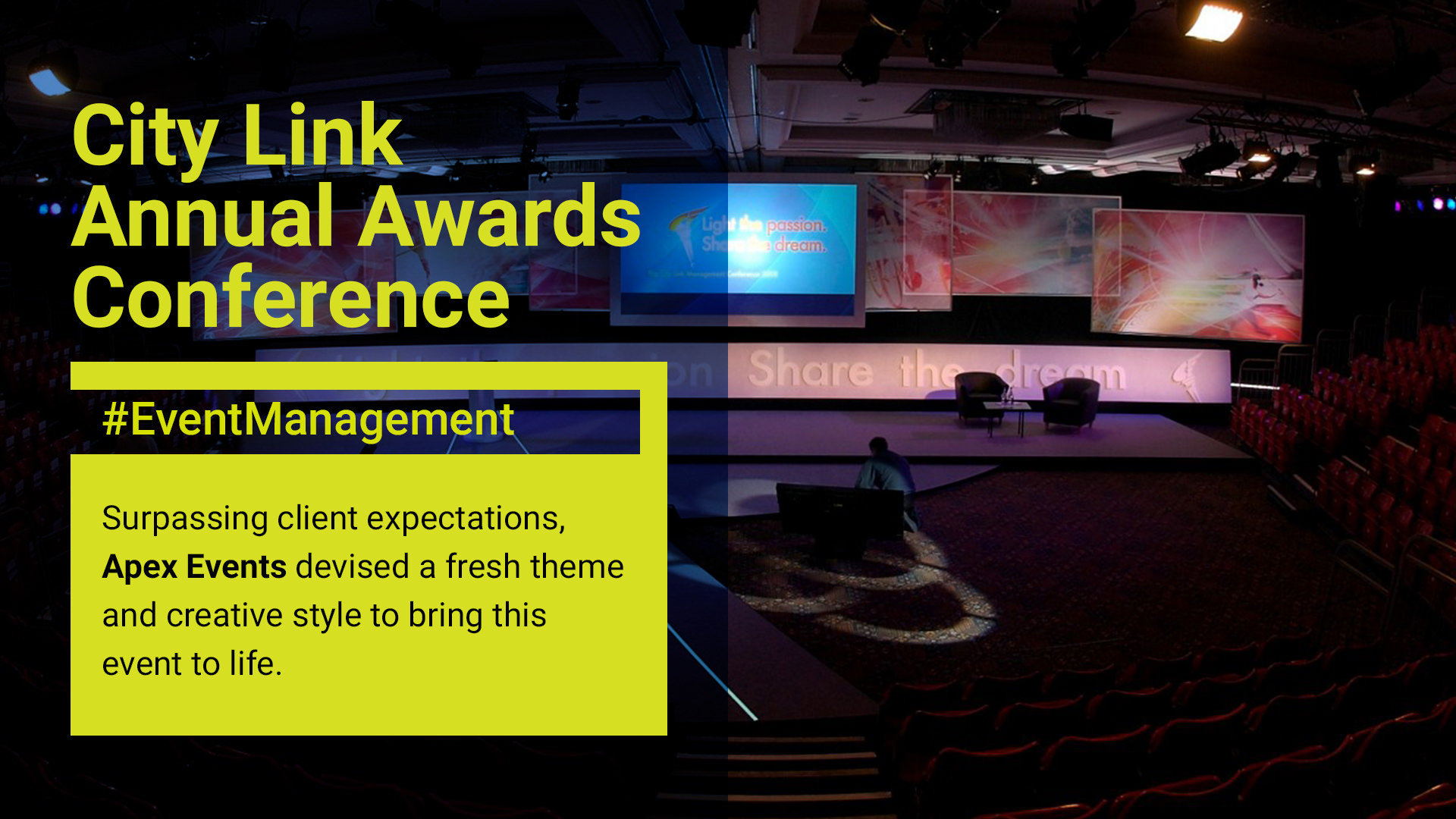 CityLink Annual Awards Conference. Event Management by Apex.