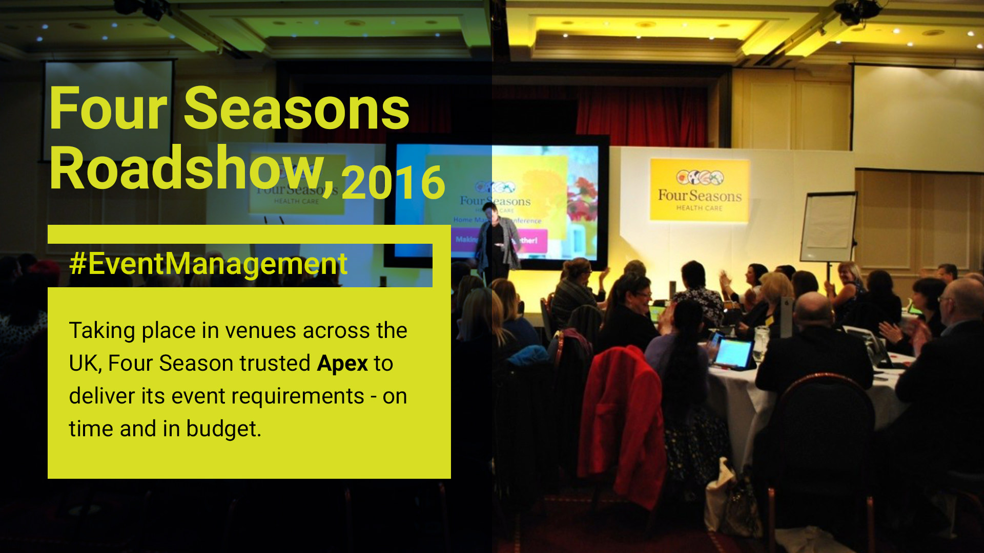 Four Seasons Roadshow 2016. Event management by Apex.