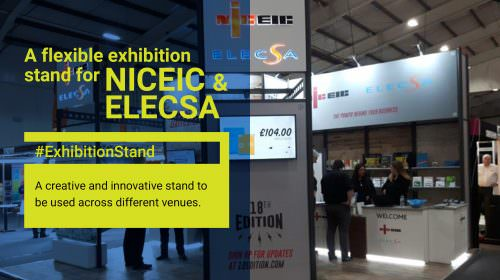 NICEIC & ELECSA: A creative and innovative exhibition stand design