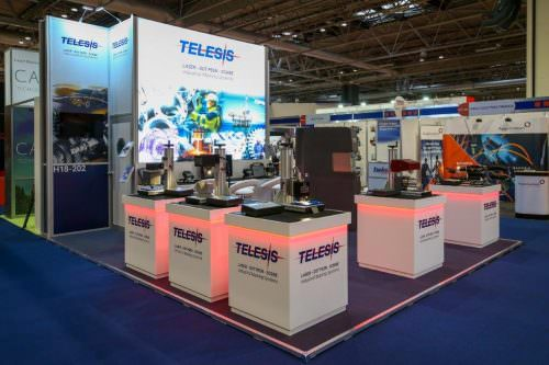 Telesis Modular Exhibition Stand with adjustable height feature