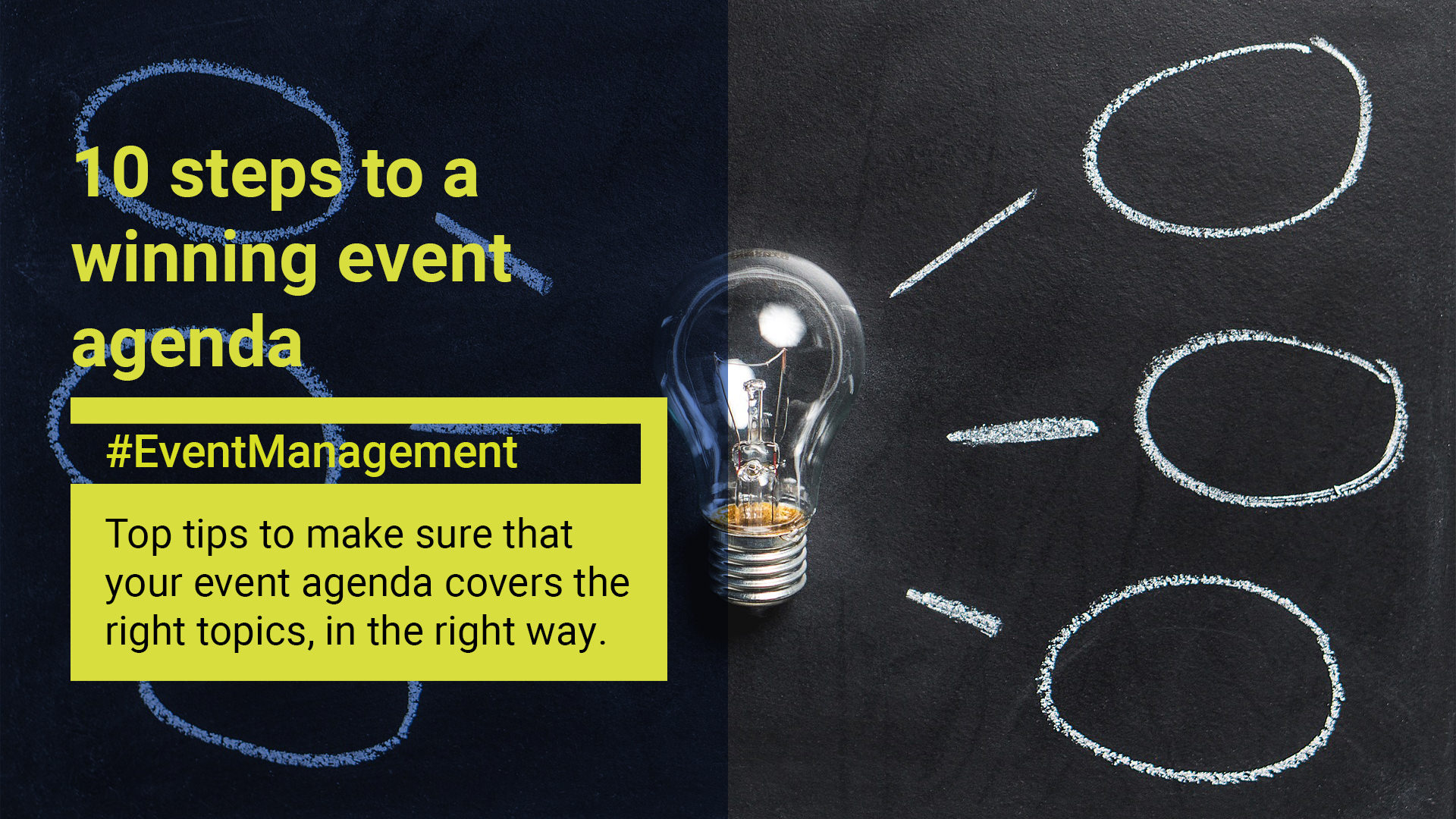 10 steps to a winning event agenda