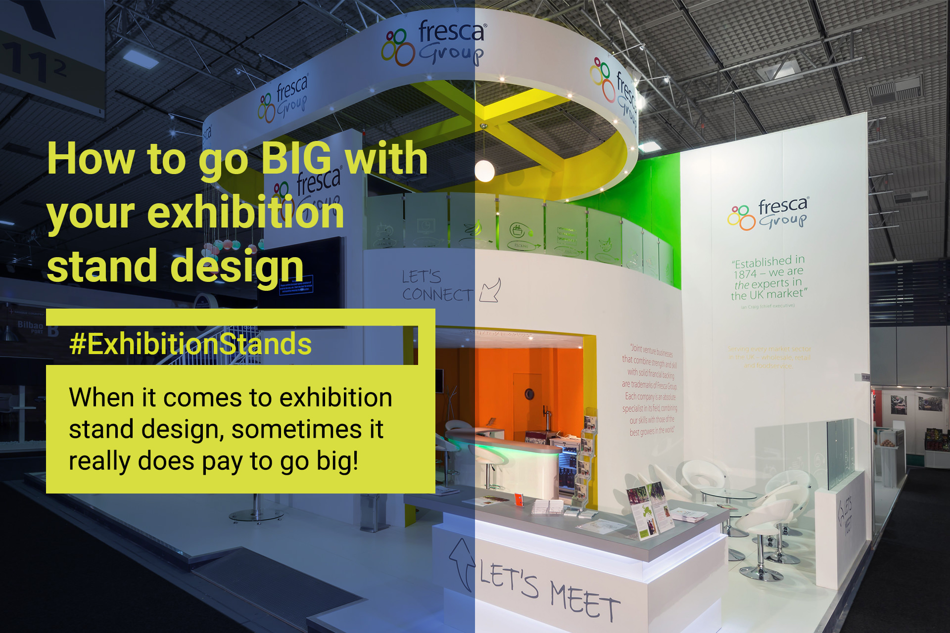 Big Exhibition Stand Design : How to go big with your exhibition stand design apex event